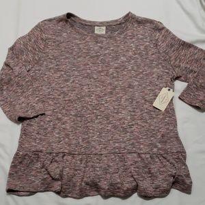 NWT ruffle bottom sweater
